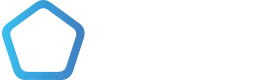 Penta 3D logo - white version